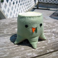 Mossy Mint Green Stump by SteffBomb on Etsy, $30.00