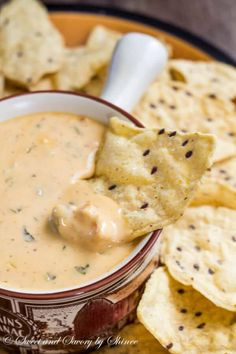 Creamy Hot Cheese Dip ~Sweet & Savory This hot cheese dip recipe is the easiest thing you can prepare for your game day party! Cheesy, creamy deliciousness that is so hard to resist. Hot Cheese Dips, Cheese Dip Recipes, Appetizer Recipes, Party Appetizers, Football Food, Game Day Food, Mexican Food Recipes, Milk Recipes, Cooking Recipes