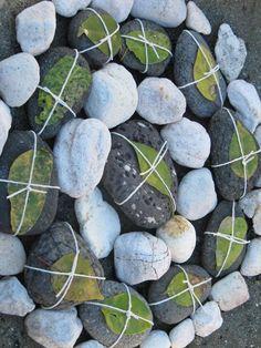 Environmental art by hannahgsmith (sticks, stones and rocks) via ARTPROPELLED