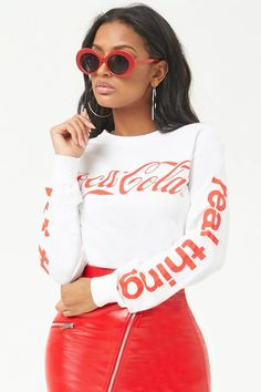 e052f253 Forever 21. Teen FashionistaLatest OutfitsSporty StyleCute TopsF21Coca  ColaGraphic TeesForever ...