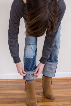 how to fold boyfriends over ankle boots