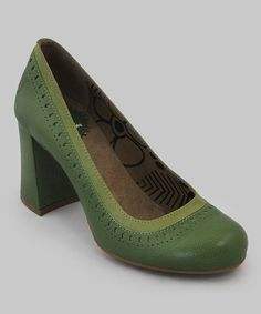 Take a look at this Pistachio Coco Pump by FLY London on @zulily today!