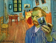 Van Gogh in the style of facebook... too funny. Maybe we can expand on this...