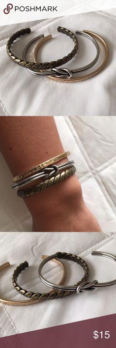 Jewel Kade 'Nautical Cuff Set' Trio set of open bracelets only worn once. Jewel Kade Jewelry Bracelets