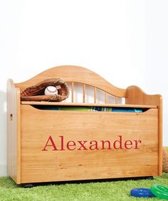 This stylish, natural-colored toy box doubles as a bench. Of course, it's also the perfect place to store dolls, blocks and more playthings so homes stay tidy and safe from toy-tripping accidents.