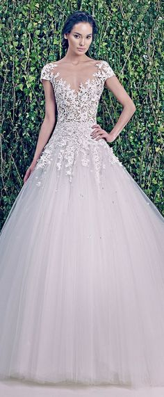 Zuhair Murad Bridal F/W 2014-2015 would be perfect if the tulle wasn't so poofy