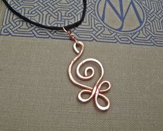 Celtic Budding Spiral Copper Pendant  Celtic by nicholasandfelice, $15.00