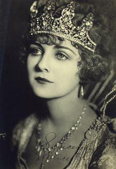 Alice Terry 1920's silent film star - beautiful jewels