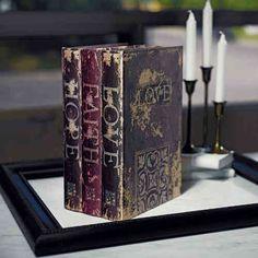 Brief / Takı Box Antique Books - Hochzeitsshop Evet Ich Will