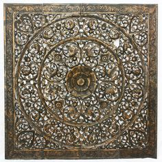 Found it at Wayfair - Lotus Panel in Recycled Teak Wall Décor