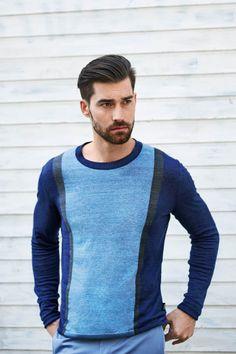 Strellson Premium knitwear Spring 2014 #knit #pullover #sweater #menswear #blue