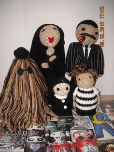 Addams family doll set by PunkRockWhiteTrash on Etsy, $150.00. Worth every penny, because this would rock.