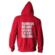 """""""Famous Brand Logo and Catchy Tagline"""" American Apparel Unisex Fleece Zip Hoodie by WORDS BRAND™"""
