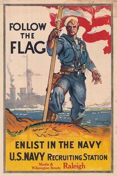 Propaganda Poster - U. Navy Recruitment' Poster by critterville Navy Day, Go Navy, Us Navy Recruiting, Ww1 Propaganda Posters, Political Posters, Navy Life, Navy Military, Military Art, Military Quotes
