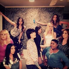 Pin for Later: 42 Times the Pitch Perfect Cast Brought Their Aca-Awesomeness to Instagram Hana Mae Lee shared a photo of the Pitch Perfect 2 group.