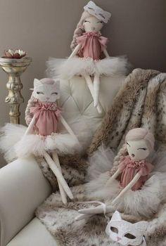 Juliette, the spring kitten, Wild Rose dolls. #WildRosedolls #Heirloom #cloth #fabric #doll #decor #nursery #kids #handmade, product