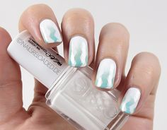 [Nageldesign/ Nailart] Zickzack Mint (chevron tape und gradient)
