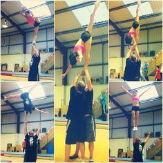 Cheerleading training a couple of seasons ago