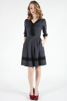 Thornbird Dress Grey | Birds of North America Online Boutique