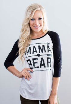 Calling all mama bears!! 95% Rayon, 5% Spandex Made in the U.S.A<3 Model is…