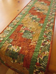 Handmade Quilted Table Runner Leaves with by PatchworkMountain, $60.00