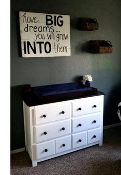 Have big dreams..you will grow into them, reclaimed solid wood sign, rustic sign, baby room sign, nursery sign, nursery decor, childs room by Reclaimed4aPurpose on Etsy