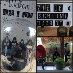 Sinterklaas stolp, Lightbox en raamstickers
