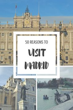 Spain& capital city is fairly underrated as far as European capital cities go. Here are 50 reasons why you should visit Madrid right now. Europe Travel Tips, Spain Travel, European Travel, Travel Destinations, Travelling Europe, Travel Info, Travel Ideas, Travel Guide, Beautiful Places To Visit