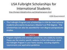 USA Fulbright Scholarships for International Students