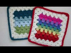 Granny Stripes Squared Crochet Pattern - YouTube