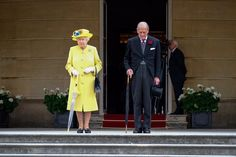 The Royal Family (@RoyalFamily) on Twitter:  Queen's Garden Party, May 23, 2017-Queen Elizabeth and the Duke of Edinburgh along with the rest of the royal party and their guests spent a minute of silence in honor of the Manchester terror attack victims