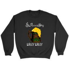 Patrick's Day Dilly Dilly Football Shirts-T-shirt-Crewneck Sweatshirt-Black-S-Itees Global Graphic Tees, Graphic Sweatshirt, T Shirt, Philadelphia Eagles Shirts, New Orleans Saints Shirts, Kansas City Chiefs Shirts, Nfl Baltimore Ravens, Cincinnati Bengals, Indianapolis Colts