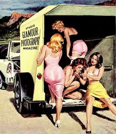 """"""" Illustration Rafael de Soto for the back cover of Glamour Photography Summer issue, 1957 """""""