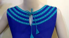 Latest neck design boat neck cutting and stitching - Simple Craft Ideas Simple Saree Blouse Designs, Simple Sarees, Frock Patterns, Saree Blouse Patterns, Kurti Patterns, Sewing Patterns, Boat Neck Kurti, Kurti Designs Party Wear, Salwar Designs