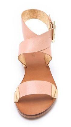 pink scrappy sandals