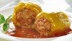 Bosanske Punjene Paprike sa Mesom - Homemade Stuffed Peppers with Meat! Bosnian Recipes, Bulgarian Recipes, Croatian Recipes, Slow Cooker Recipes, Beef Recipes, Cooking Recipes, Pita Recipes, Seafood Recipes, Food From Different Countries