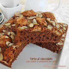Torta al cioccolato con wafer e amaretti al caffe,