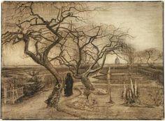 Winter Garden  - Vincent van Gogh - Nuenen 1884