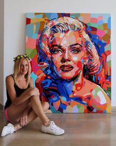 Noemi Safir Dolev lives and works in Tel Aviv, Israel Portrait Draw, Abstract Portrait, Arte Pop, Arte Marilyn Monroe, Pop Art Portraits, Painting Portraits, Wow Art, Artist Gallery, Art Techniques