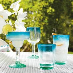 Dual Ombre Double Old Fashioned Glasses, Set of Four