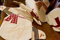 Snowman Table Runner {Sewing} - Wendys Hat