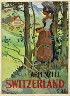 Beginning of the century travel poster promoting the Appenzell region in Switzerland.