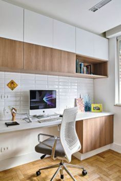 how can we realize a comfortable home office design and make us productive? If you're looking for home office design ideas, here are some great ideas can help you to find the best design solution for your home office. Cozy Home Office, Home Office Setup, Home Office Organization, Home Office Space, Home Office Design, House Design, Office Ideas, Organization Ideas, Desk Office