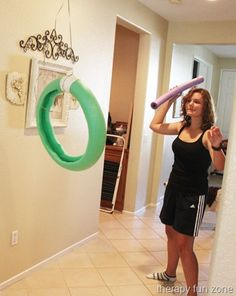 Pool Noodle Javelin Throw  -  Pinned by @PediaStaff – Please Visit http://ht.ly/63sNt for all our pediatric therapy pins