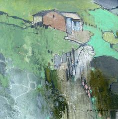The mixture of different colours and patterns in the landscape is abstract yet subjective to its form.