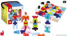 Kubix - 50 Geometrix Wooden Blocks Janod - First toys  $35