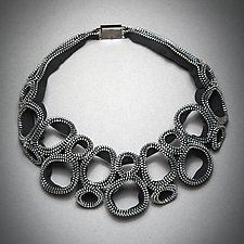 Figure Eight Zipper Necklace by Kate Cusack (Zippered Necklace)