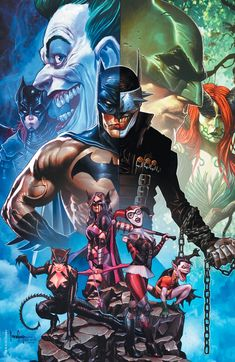 Artist Mico Suayan shares full-color and black and white retailer variants for the penultimate issue of The Batman Who Laughs homaging Jim Lee. Dc Comics, Math Comics, Anime Comics, Batman Poster, Batman Art, Batman Robin, Batman Metal, Batman Figures, Marvel Dc