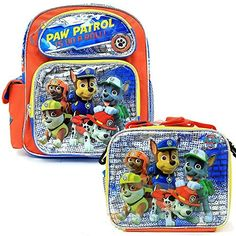 b1df125e19 Nickelodeon Paw Patrol Large School Backpack   Lunch Box BRAND NEW -  storage categories