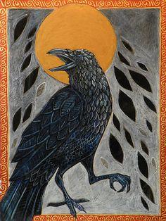 "Crows Ravens:  #Raven ~ ""Samhain,"" by Lynnette Shelley."
